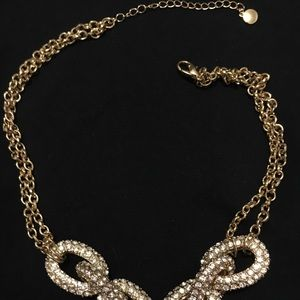 Gold chain necklace with diamonds